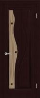 Дверь Сафари шпонированная межкомнатная со стеклом, венге