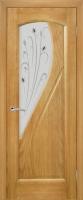 Дверь Дианит шпонированная межкомнатная со стеклом, ясень золотистый