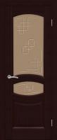 Дверь Топаз шпонированная межкомнатная со стеклом, венге