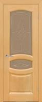 Дверь Топаз шпонированная межкомнатная со стеклом, анегри файн-лайн