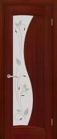 Дверь Лазурит шпонированная межкомнатная со стеклом, сапель