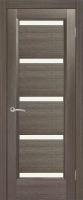 Дверь Гранат II шпонированная межкомнатная со стеклом, черный абрикос