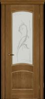 Дверь Агат II шпонированная межкомнатная со стеклом, дуб натуральный