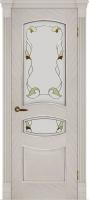 Дверь Топаз II шпонированная межкомнатная со стеклом, ясень белый