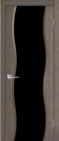 Дверь Нифрит шпонированная межкомнатная со стеклом, дуб серый S3