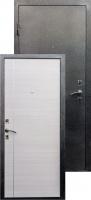 Входная металлическая дверь Виктория молдинг серебро, белая лиственница