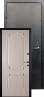 Входная металлическая дверь Пальмира серебро, дуб ивори