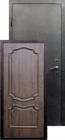 Входная металлическая дверь Пальмира серебро, темный орех