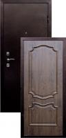Входная металлическая дверь Пальмира, темный орех